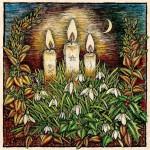 Свечи на празднике Имболк